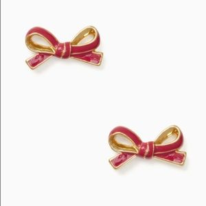 Kate Spade ♠️ NWT Red Bow Stud Earrings